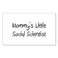 Mommy's Little Social Scientist Decal