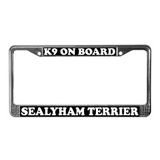K9 On Board Sealyham Terrier License Plate Frame