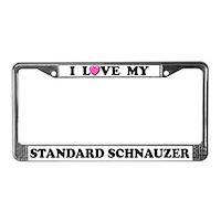 Standard Schnauzer License Plate Frames
