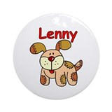 Lenny Puppy Ornament (Round)