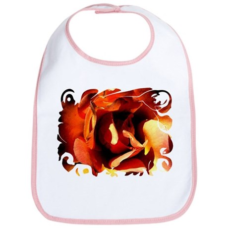 Painted Rose Bib