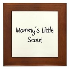 Mommy's Little Scout Framed Tile