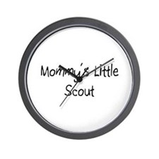 Mommy's Little Scout Wall Clock