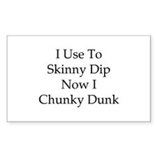 Skinny Dip Rectangle Decal