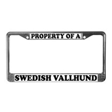 Property Of A Swedish Vallhund License Plate Frame