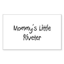 Mommy's Little Riveter Rectangle Decal