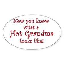 Hot Grandma Oval Decal