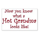 Hot Grandma Rectangle Decal