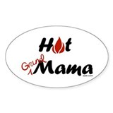 Hot Grand Mama Oval Decal