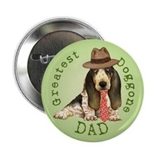 "Basset Dad 2.25"" Button"