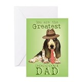 Basset I Love Dad Greeting Card
