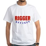 Retired Rigger White T-Shirt
