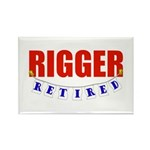 Retired Rigger Rectangle Magnet (100 pack)