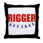 Retired Rigger Throw Pillow