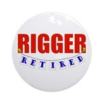 Retired Rigger Ornament (Round)