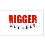 Retired Rigger Rectangle Sticker 10 pk)
