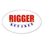 Retired Rigger Oval Sticker (10 pk)