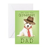 Bichon I Love Dad Greeting Card