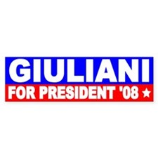 Rudy Giuliani Bumper Sticker Bumper Sticker