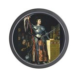 Joan in Armor Wall Clock
