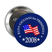 """Rudy Giuliani Buttons & Magne 2.25"""" Button (100 pa"""