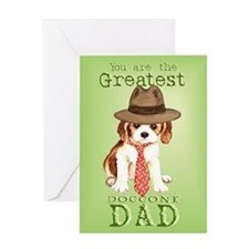 Cavalier I Love Dad Greeting Card