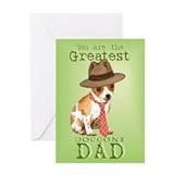 Chihuahua I Love Dad Greeting Card