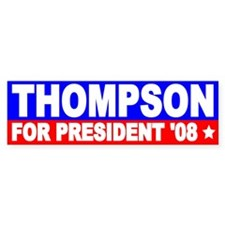 Fred Thompson Bumper Stickers Bumper Sticker