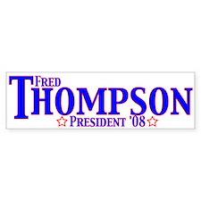 Fred Thompson Bumper Stickers Bumper Sticker