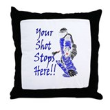 Field Hockey Goalie Throw Pillow - Blue