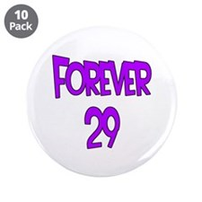 "Forever 29 2 purple 3.5"" Button (10 pack)"