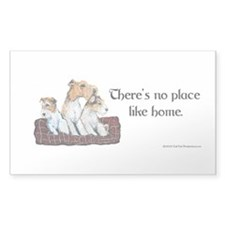 Wire Fox Terrier Home Rectangle Sticker 50 pk)