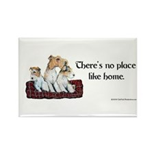 Wire Fox Terrier Home Rectangle Magnet