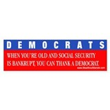 dopey Democrats bumper sticker