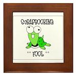 Scrapbooking Fool Framed Tile