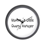 Mommy's Little Quarry Manager Wall Clock