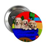 Golden retriever dogs Button