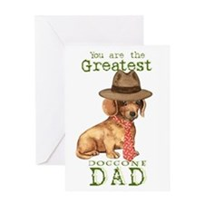Dachshund I Love Dad Greeting Card