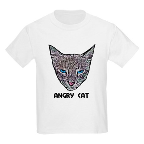 Angry Cat Kids Light T-Shirt