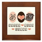 Peace Love Write Writer Framed Tile