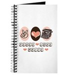 Peace Love Write Writer Journal