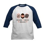 Peace Love Write Writer Kids Baseball Jersey