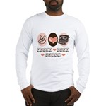 Peace Love Write Writer Long Sleeve T-Shirt