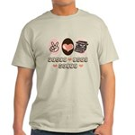 Peace Love Write Writer Light T-Shirt