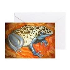 Blue Dart Frog Greeting Card