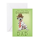 Dalmatian I Love Dad Greeting Card