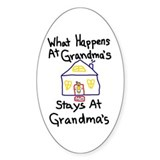 Grandma's House Oval Bumper Stickers