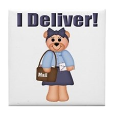 Mail Carrier Tile Coaster