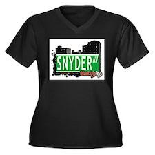 SNYDER AV, BROOKLYN, NYC Women's Plus Size V-Neck