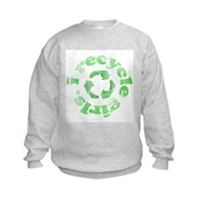 I Recycle Girls Sweatshirt